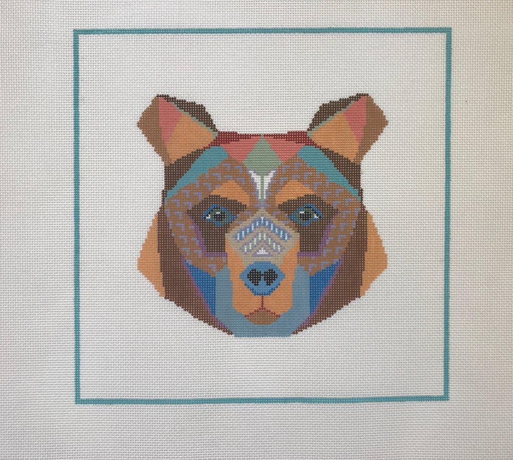 "Witty Bear - (PP40) 12""W x 11""H on 13 mesh"