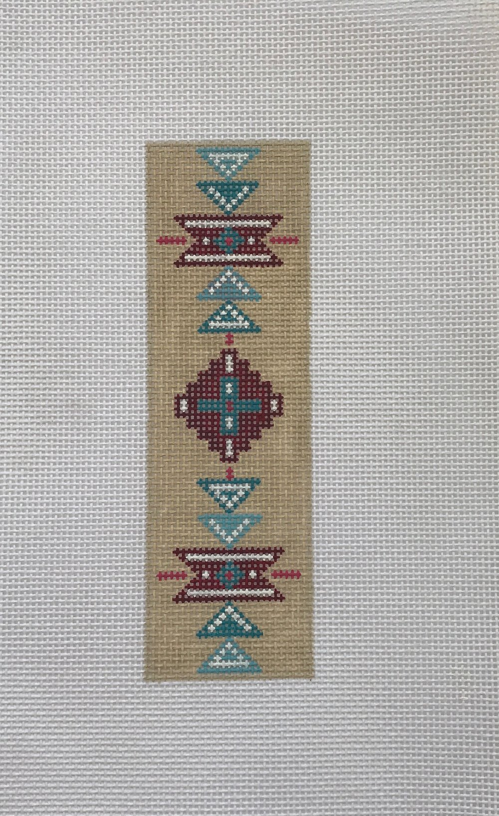 "Navajo Bookmark - (PP35) 2""W x 7""H on 13 mesh"