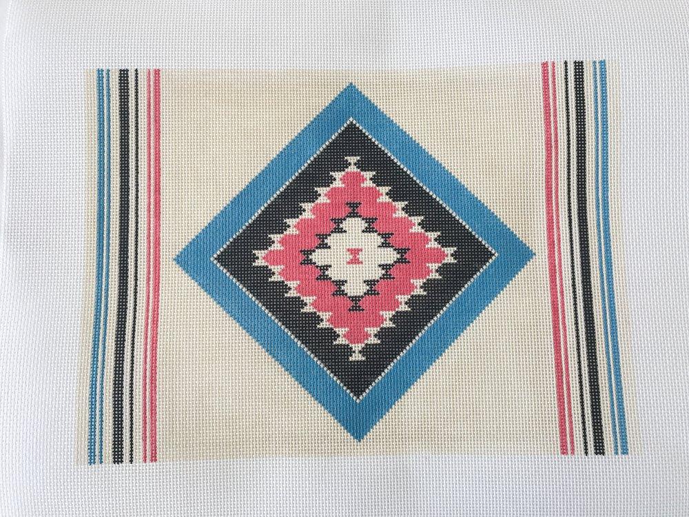 "Azul Calypso Pillow - (PP46) 13""W x 9""H on 13 mesh"
