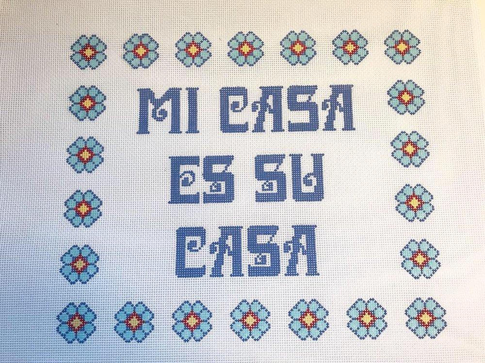 """Mi Casa es su Casa - (PP47) 12.5""""W x 10.5""""H on 13 mesh"""