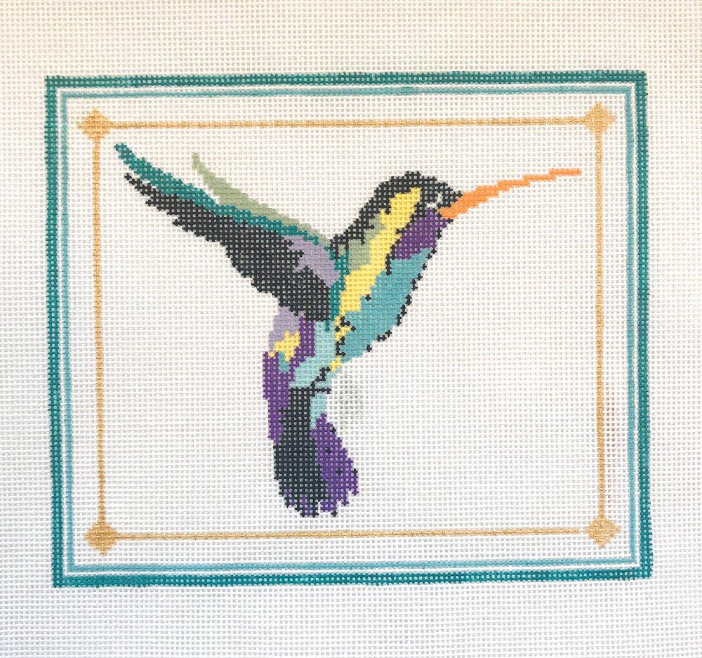 "Hummingbird - (PP49) 6.5""W x 5.5""H on 18 mesh"
