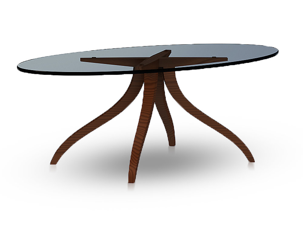 Giancarlo Studio Furniture Lydig Cocktail Table Rendering Walnut Base Glass Top.jpg