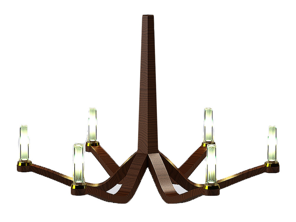 Giancarlo Studio Furntiure Lydig Chandelier Wood Lighting Light Walnut.jpg