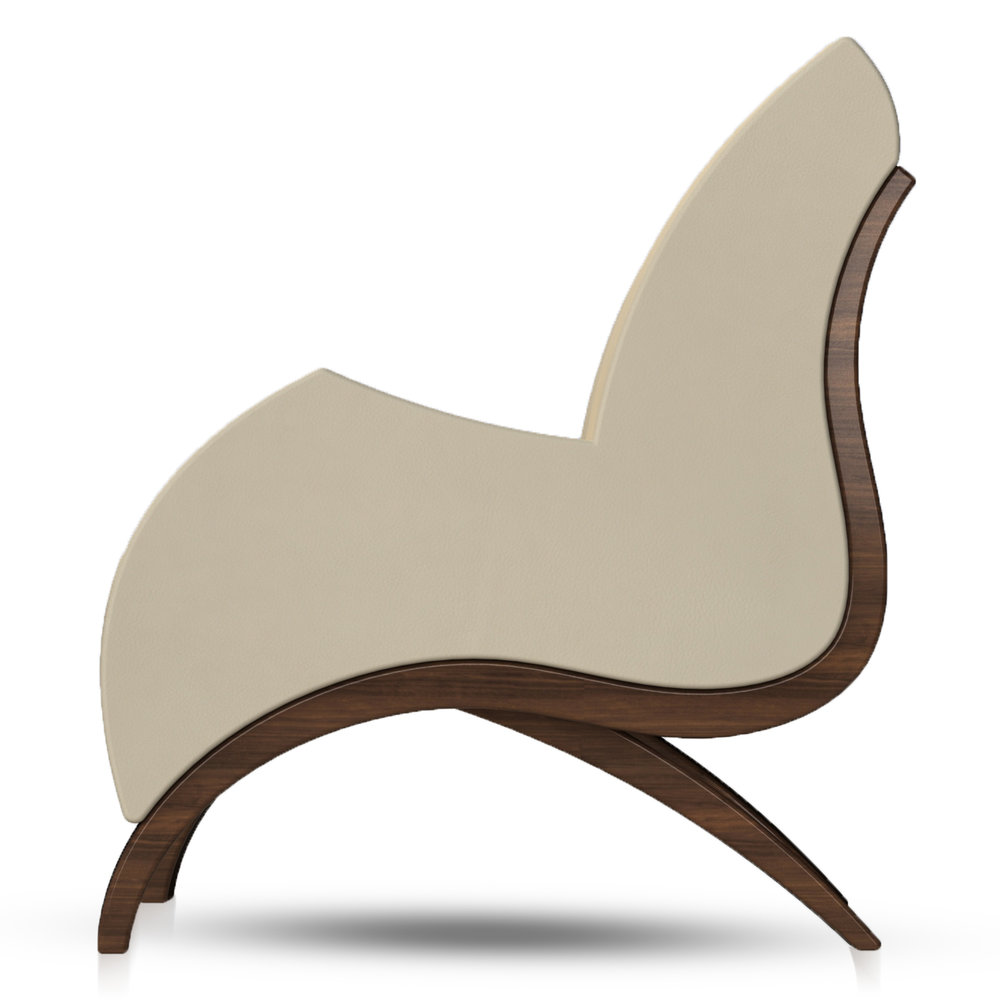 Giancarlo Studio Furniture Lydig Lounge Chair Couch Arm Walnut Wood_4.jpg