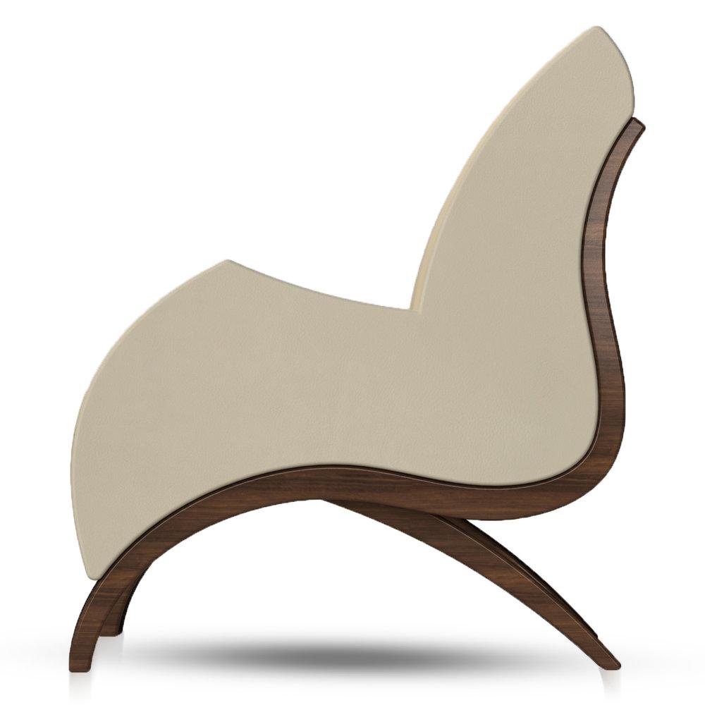 Giancarlo Studio Furniture Lydig Lounge Chair Couch Arm Walnut Wood_4.jpg