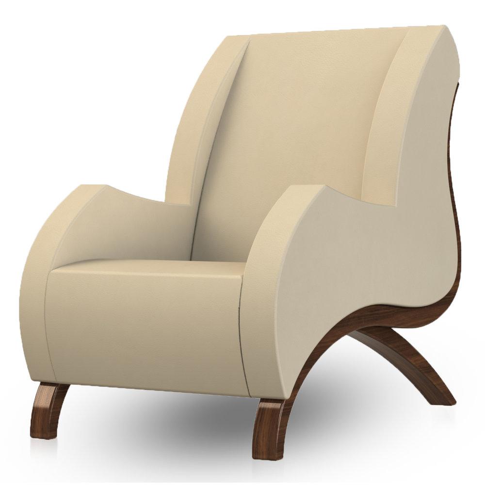 Giancarlo Studio Furniture Lydig Lounge Chair Couch Arm Walnut Wood_3.jpg