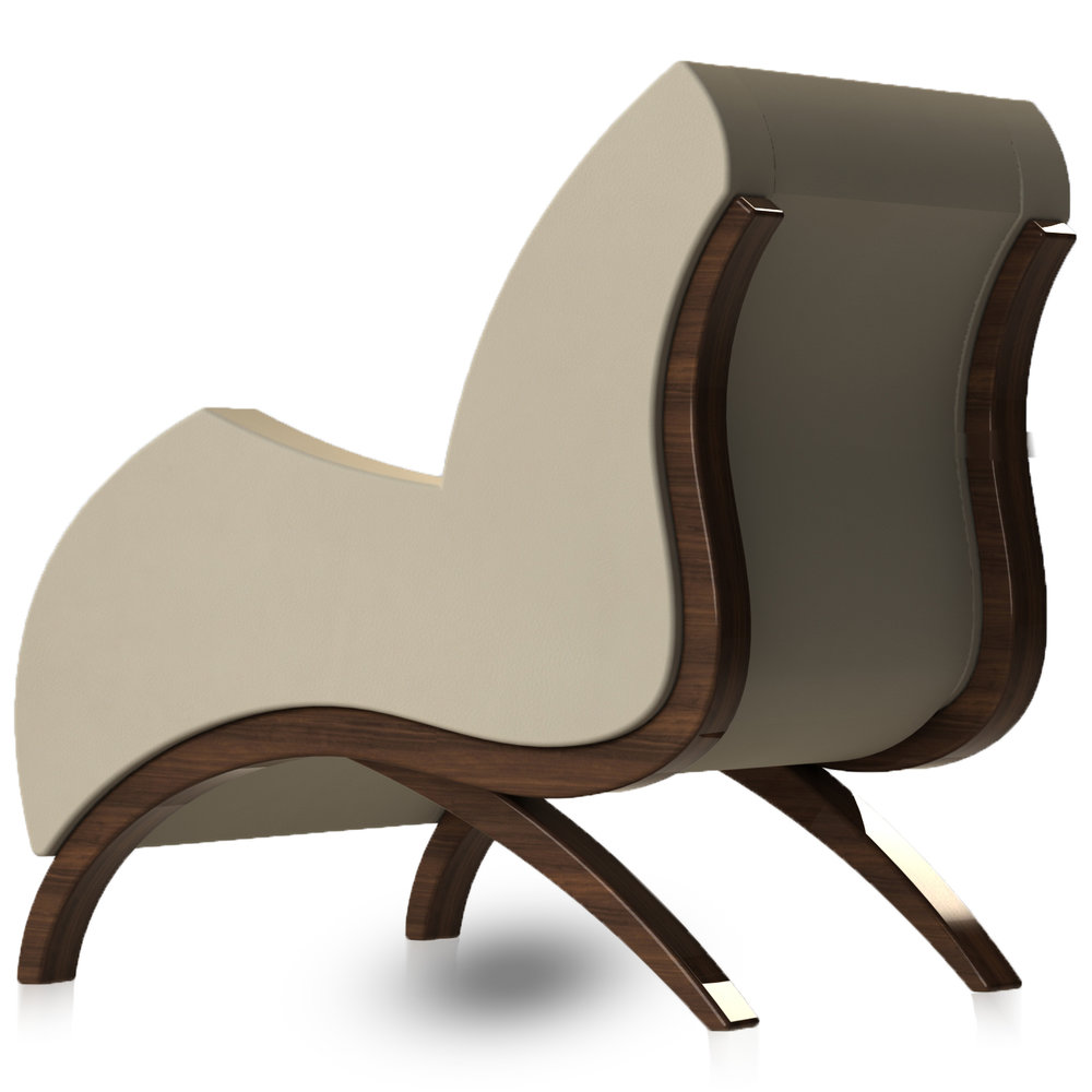 Giancarlo Studio Furniture Lydig Lounge Chair Couch Arm Walnut Wood_6.jpg