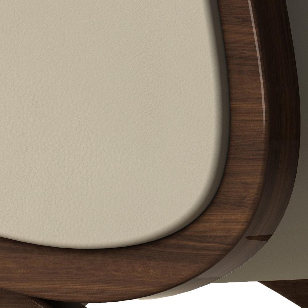 Giancarlo Studio Furniture Lydig Lounge Chair Couch Arm Walnut Wood_7.jpg