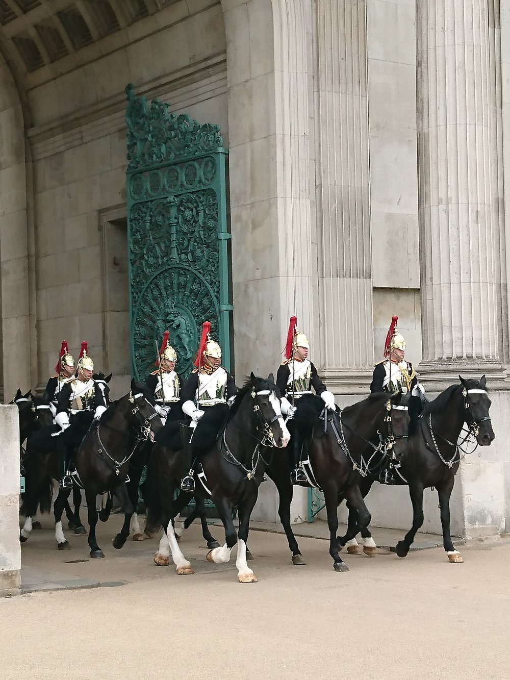 Mounted guards Wellington Arch