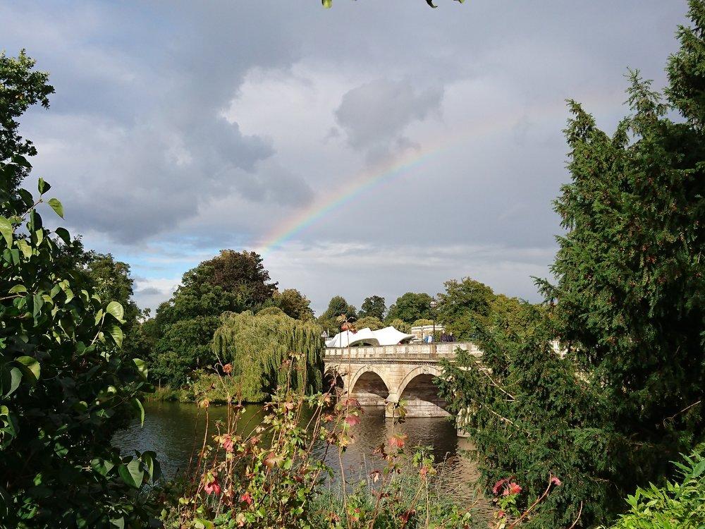 Rainbow over serpentine