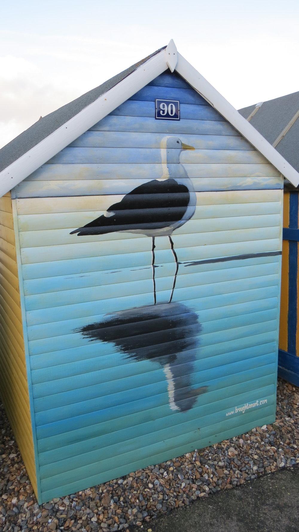 Beach hut art