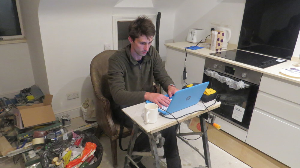 Blogging in Dad's Flat