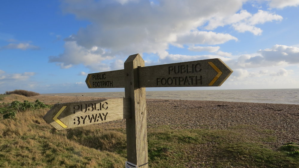 Beach Path Sign