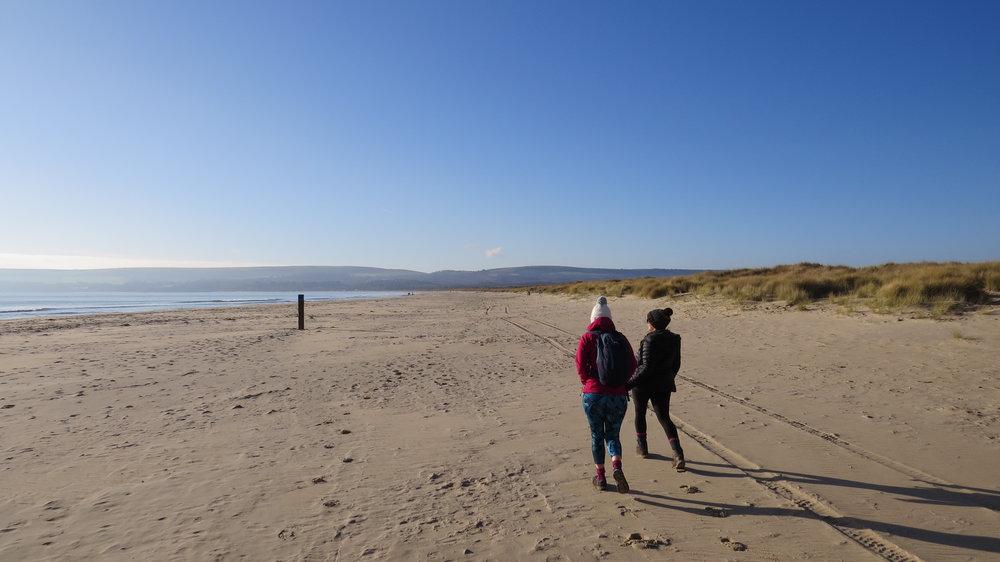 Katie, Rachel & beach