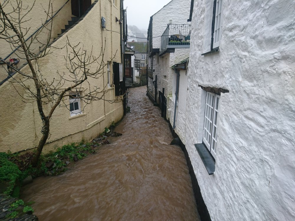 River through Polperro