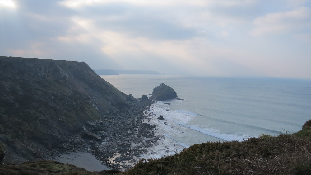 Cliffs before Portreath