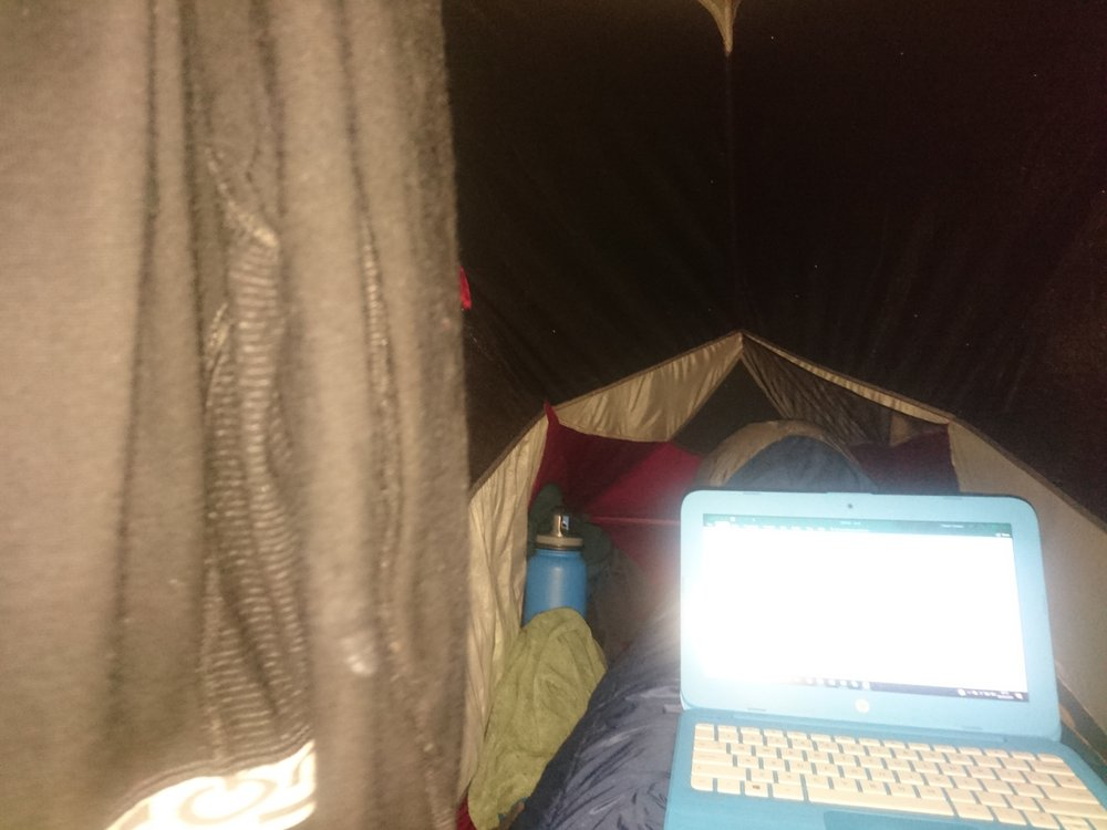 Tent Diary Writing
