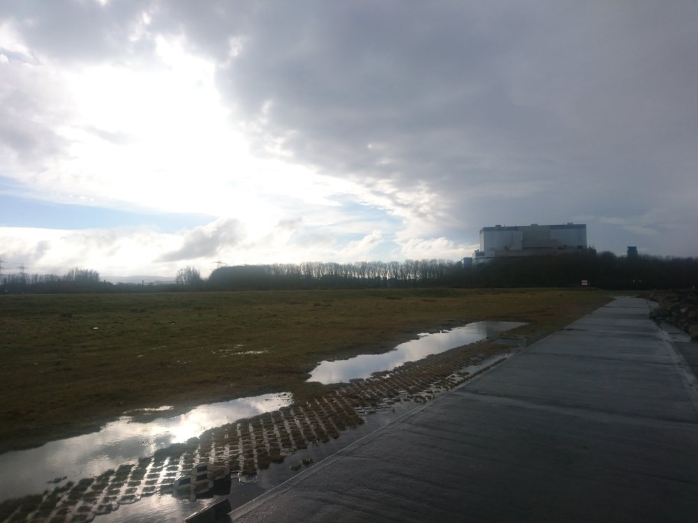 Dark Clouds leaving Hinkley