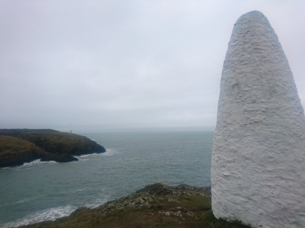 Porthgain White Channel Marker