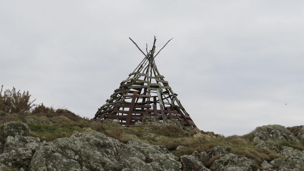 Sculpture, Wig-Wam, Bonfire?