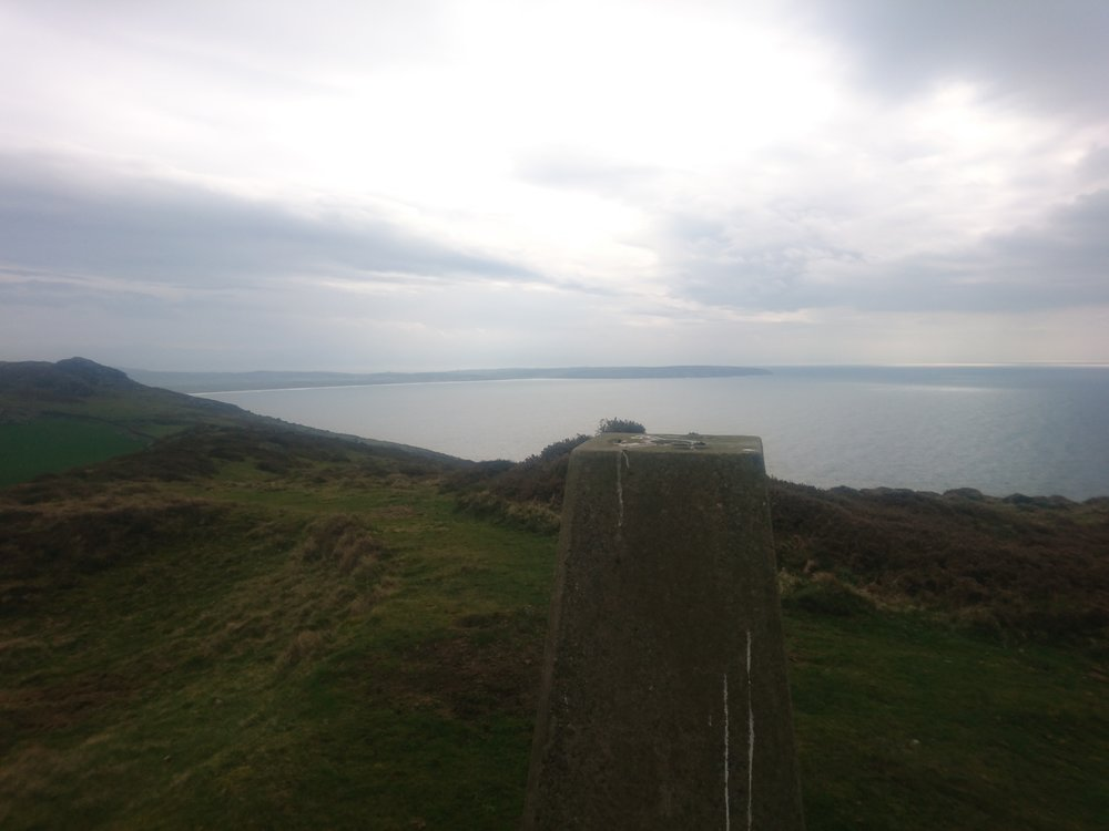 Trig Point towards Hell's Mouth