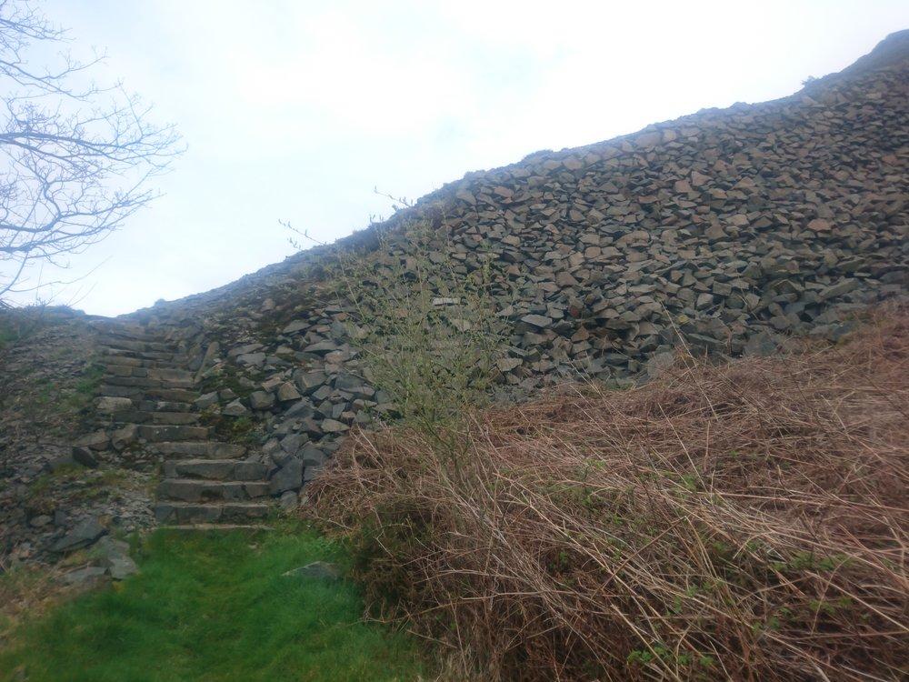 Steps Over Quarry Pile