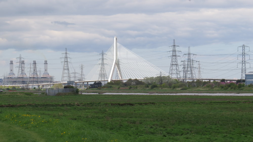Flintshire Bridge amongst Pylons