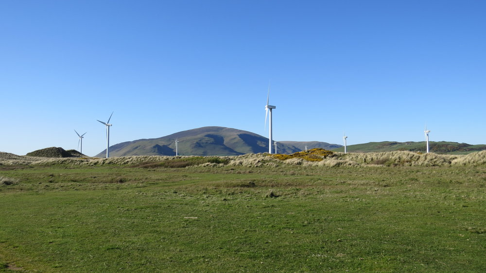 Wind Farms over Dunes