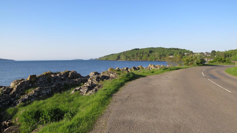 B727 overlooking Dee Estuary