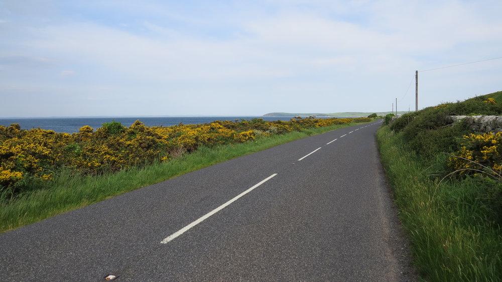 Lane Walking by the Sea
