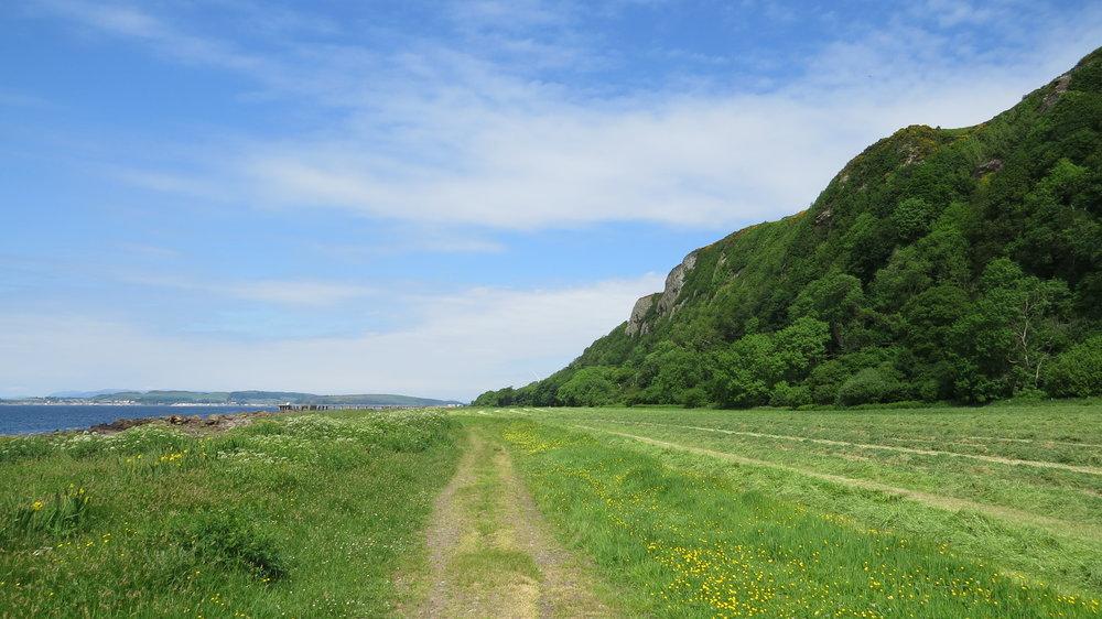 Track below Cliff