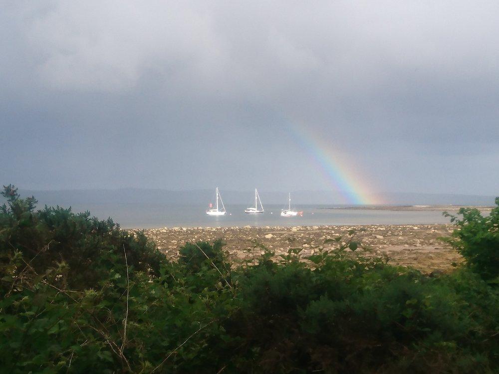 Rainbow over Yachts