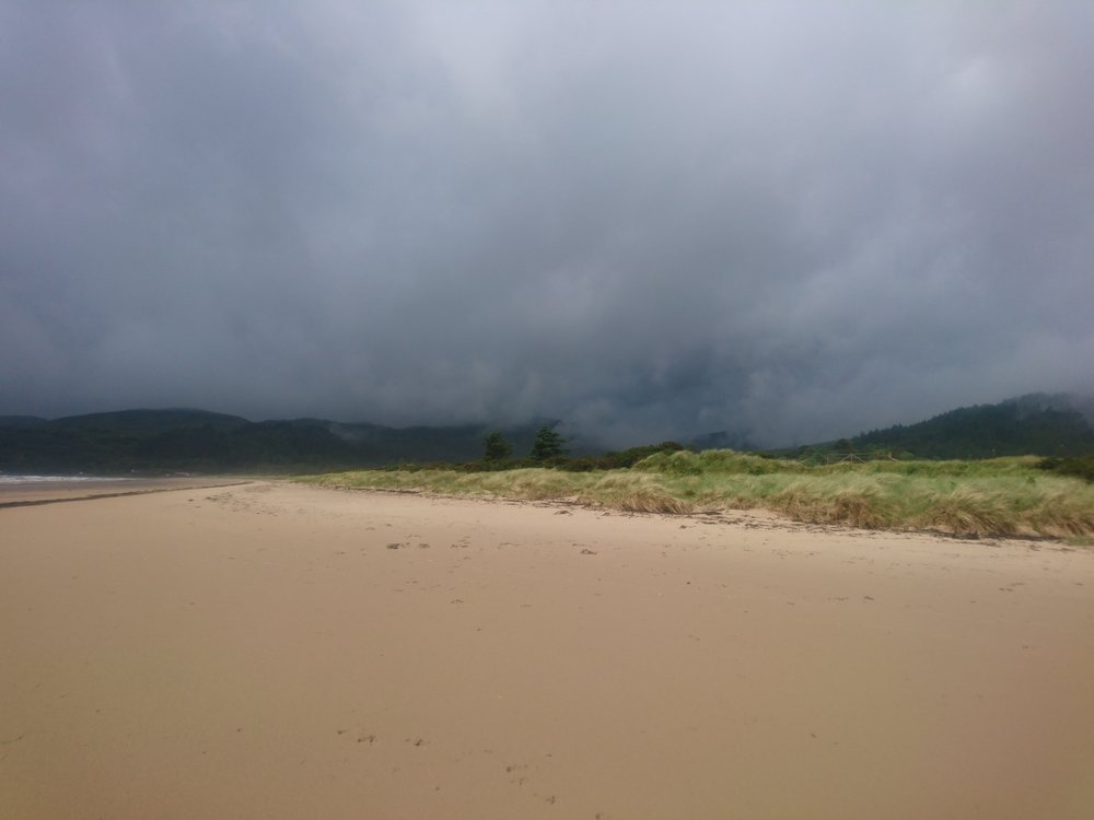 Dark Clouds above Carradale Bay