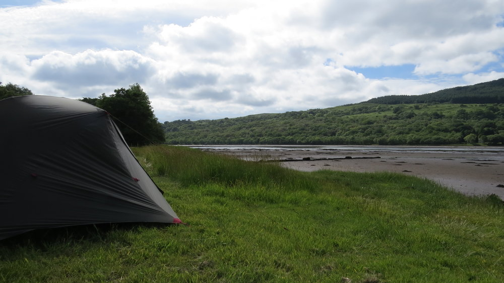 Pitched beside the Loch