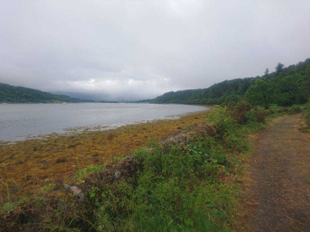 Lochside track to Lochaline