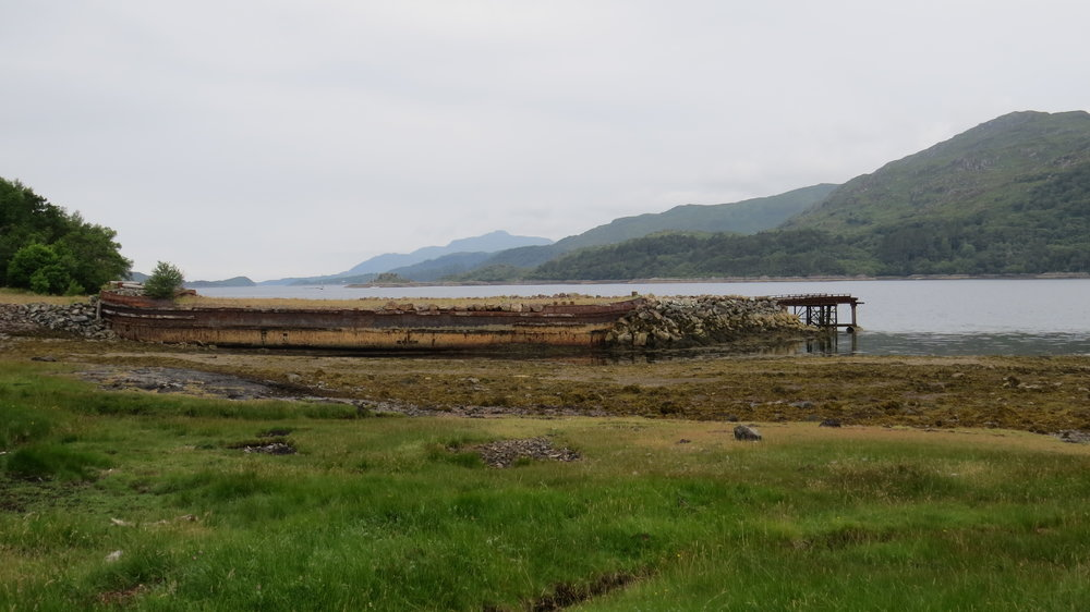 Old Barge used as Jetty
