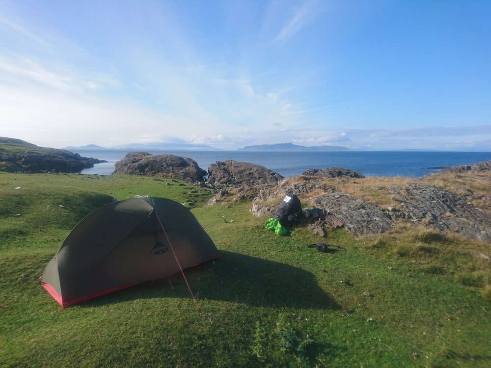 Pitch Spot with Skye in the Far Distance