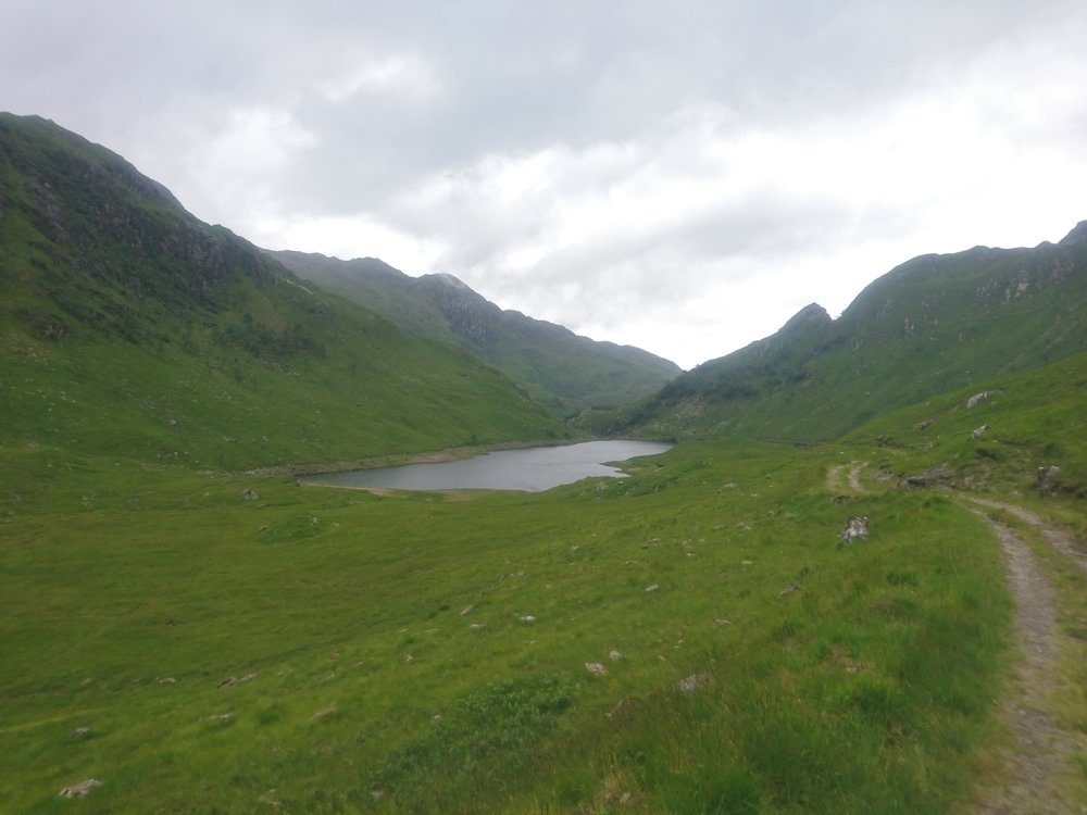Looking down to Dubh Lochain