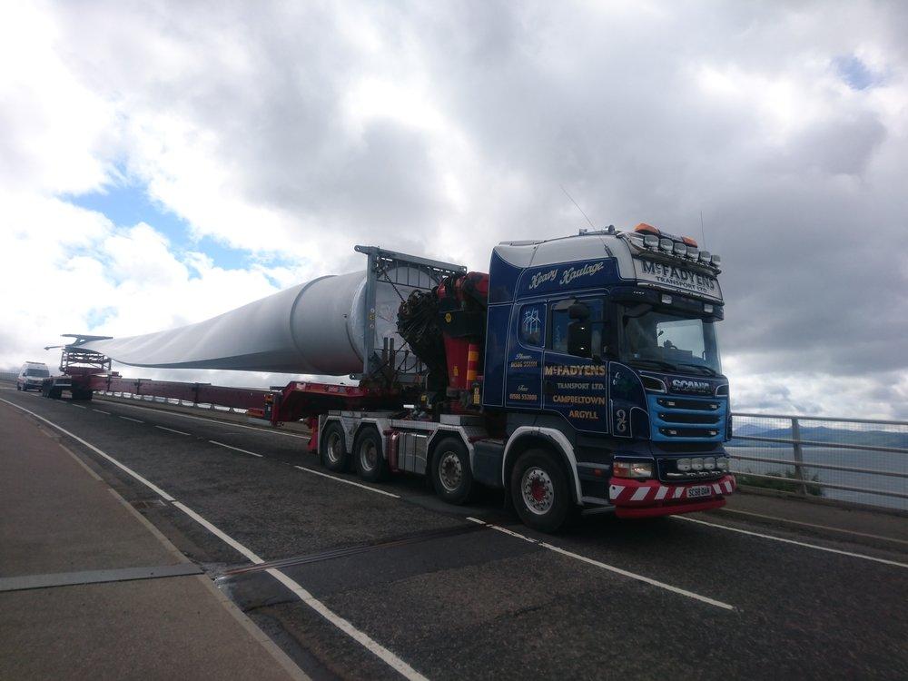 Turbine Blades on Skye Bridge