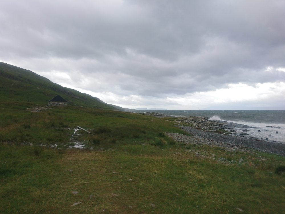 Looking back to the Bothy