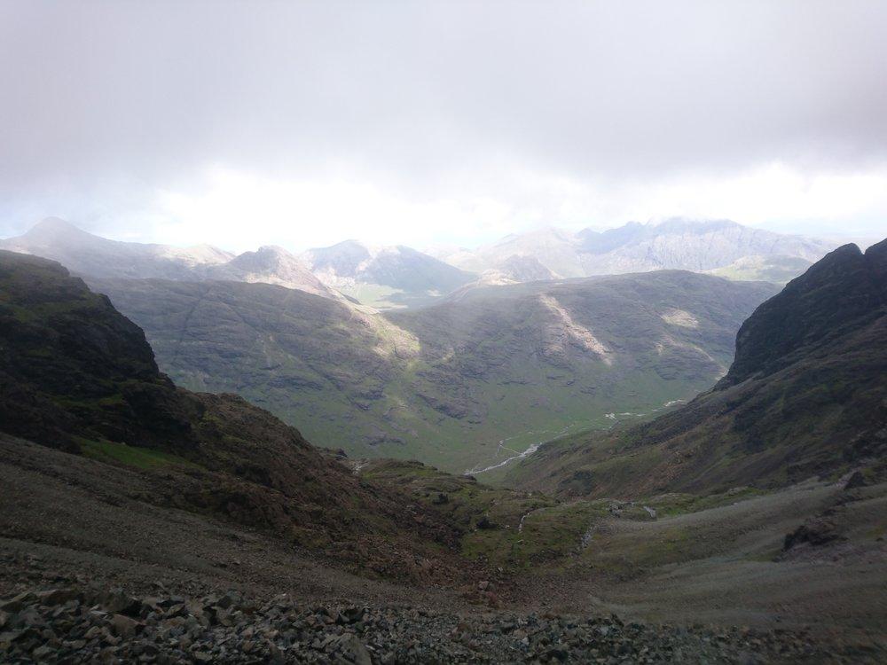 View East from Bealach Coire na Banachdich