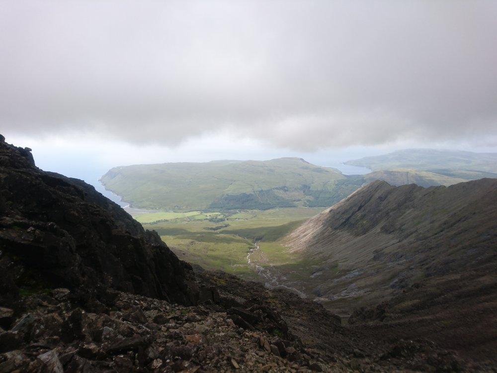 Looking West from Bealach Coire na Banachdich