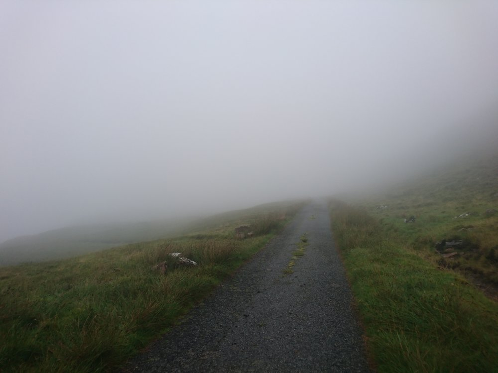 Tarmac Road into the Fog