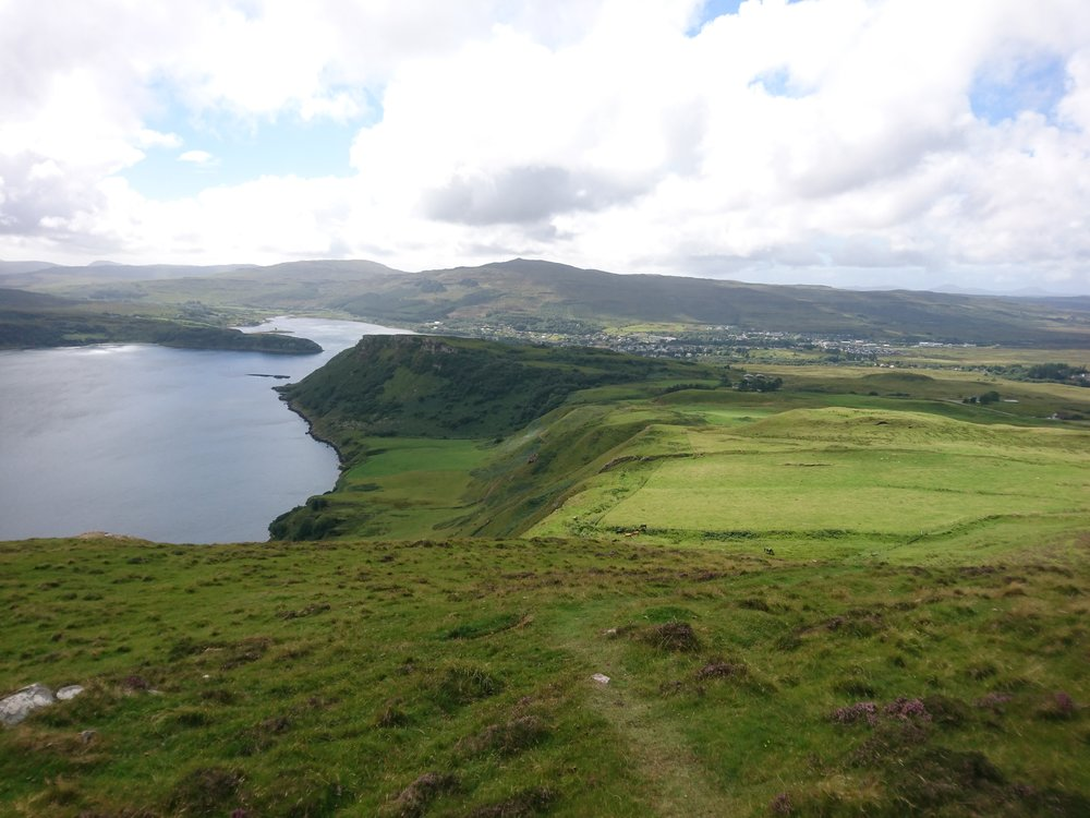 Looking down to Portree