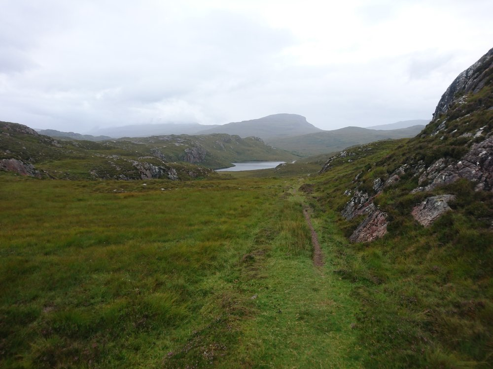 Looking back from A'Bhainlir