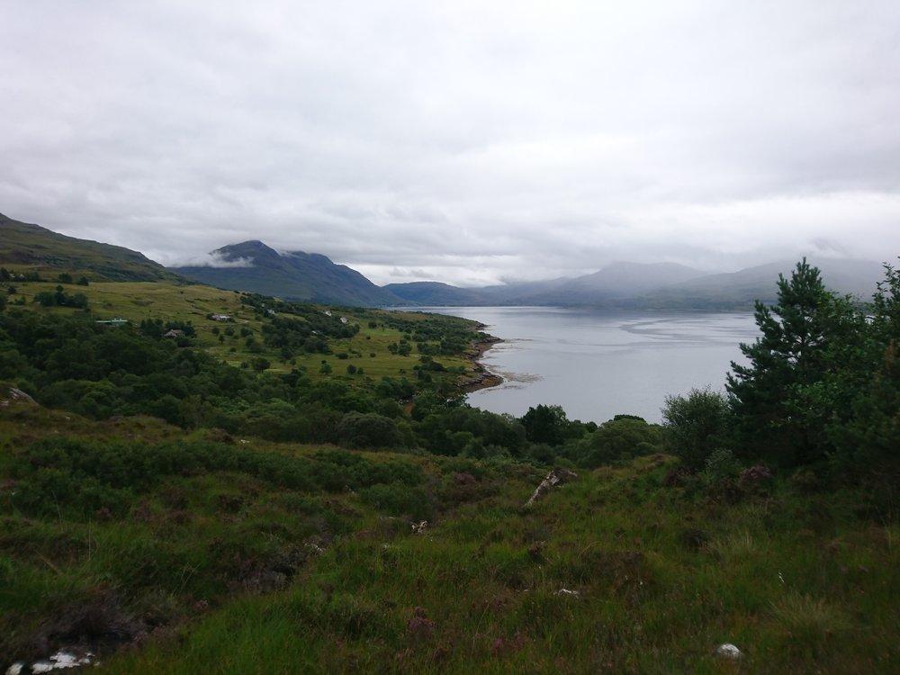 Looking back down Loch Torridon