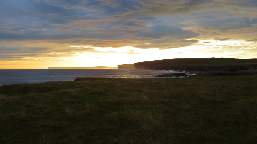 Sun Rising over Cliffs