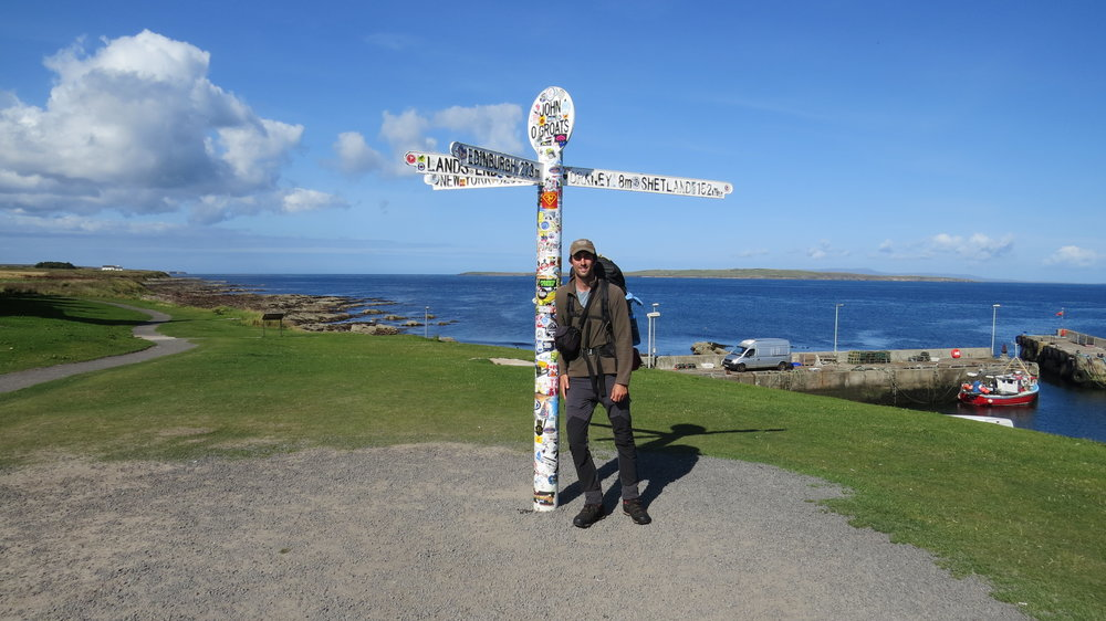 'Excited' to be at John o'Groats