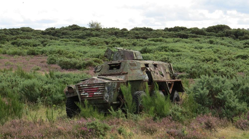 Deserted Military Vehicle on Range