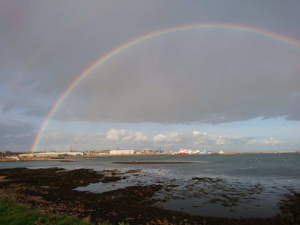 Rainbow over Peterhead